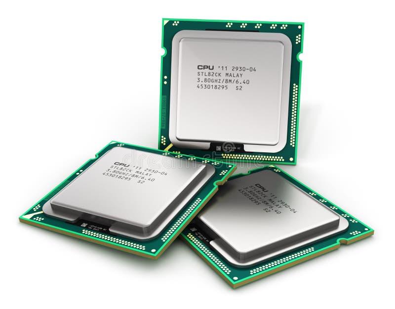 Modern CPU vektor illustrationer