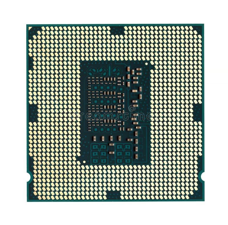 Modern CPU-datorchip arkivbild