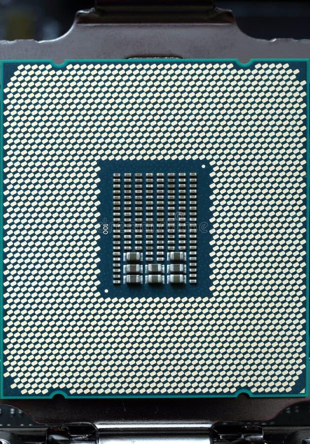 Modern CPU-datorchip arkivfoton