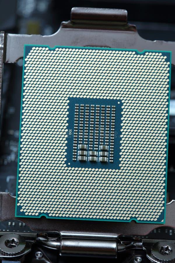 Modern CPU för central processor royaltyfri bild