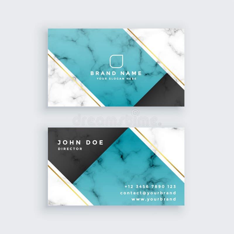 Modern creatief adreskaartje in marmeren textuur royalty-vrije illustratie