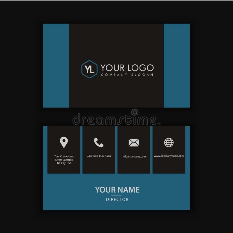 Modern Creatief en Schoon Adreskaartjemalplaatje vector illustratie