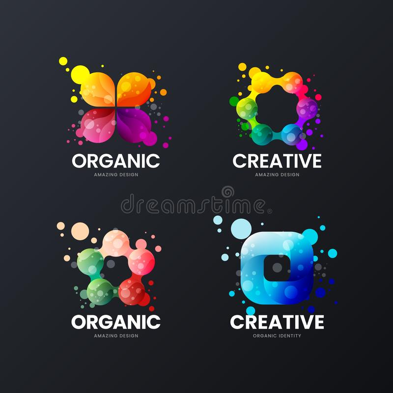 Abstract Organic Isolated Vector Logo Sign. Logotype