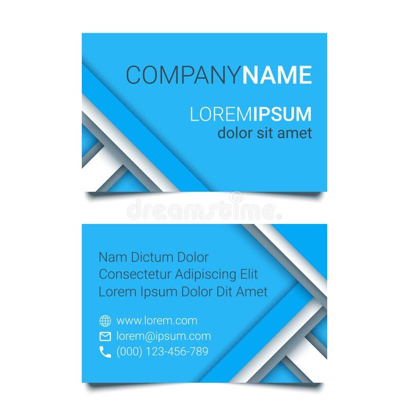 Modern Creative Business Card Blue Template In A Material Design ...
