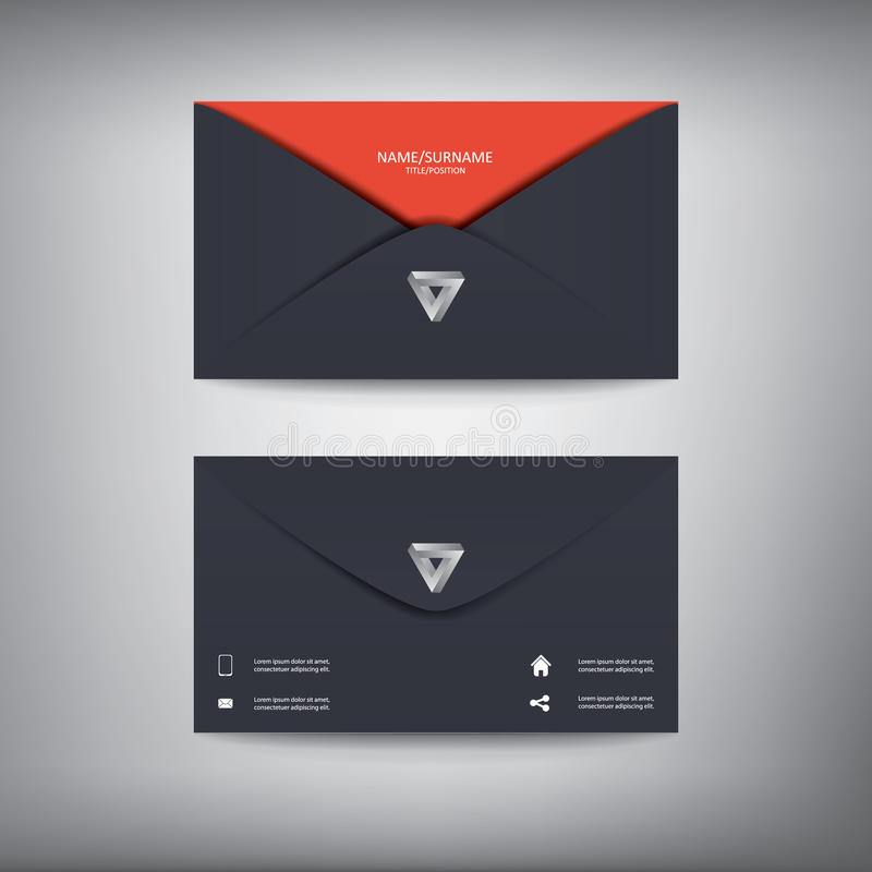 Modern Creative Business Card Template In Envelope Stock Vector ...