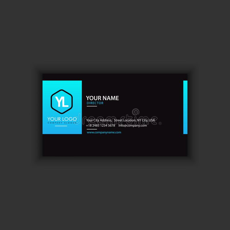 Modern Creative and Clean Business Card Template stock illustration