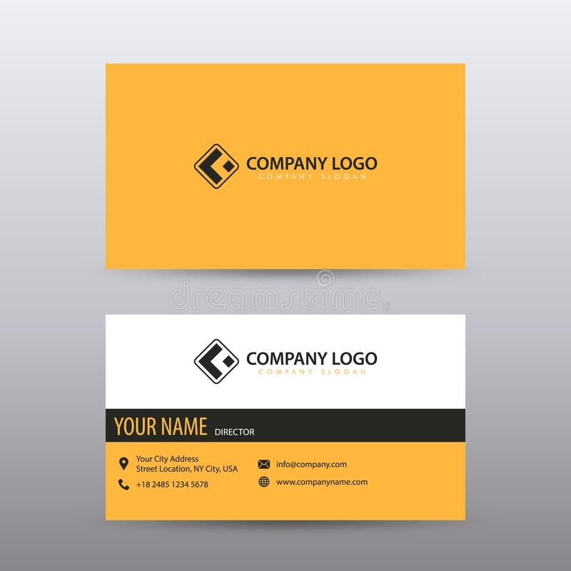 Modern Creative and Clean Business Card Template with yellow Black color . Fully editable royalty free illustration