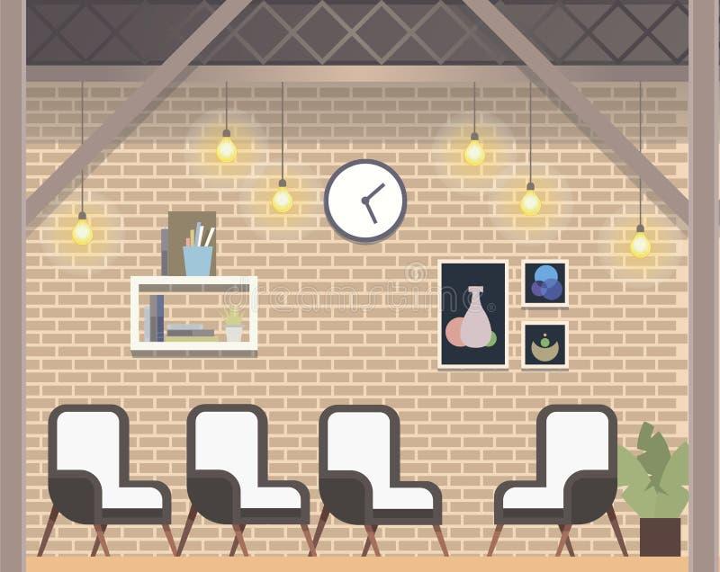 Modern Creative Coworking Workspace Loft Style vector illustration