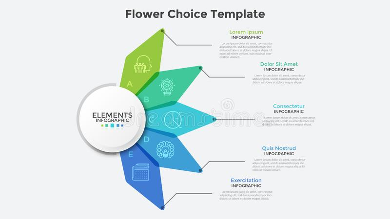Modern Creative Infographic Template stock illustration