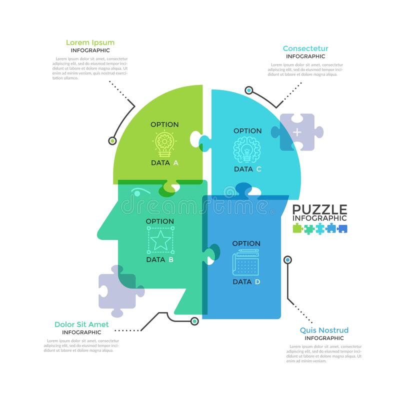 Modern Creative Infographic Template royalty free illustration