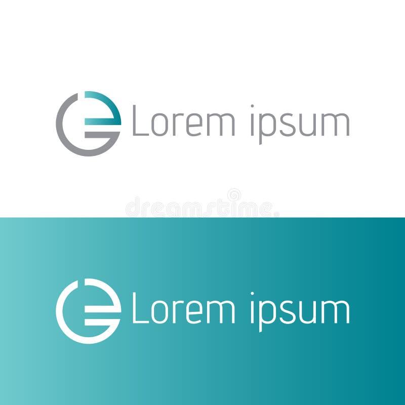 Modern creative initial E Letter Logo Design vector illustrations stock illustration