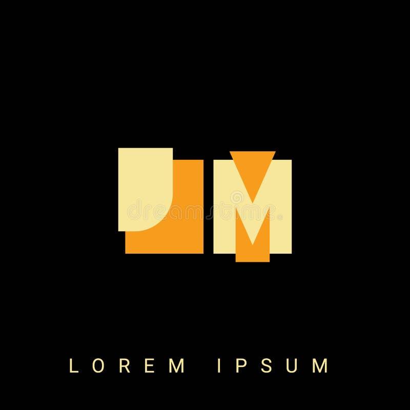 Modern Letter K Logo Concept: MJ M J Letter Logo Design Stock Vector. Illustration Of