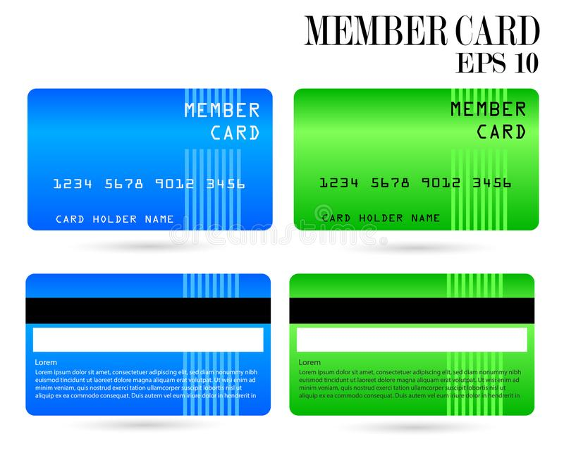 Modern credit card, business VIP card, member card. Modern credit card, business VIP card, design for privilege member, member card vector illustration