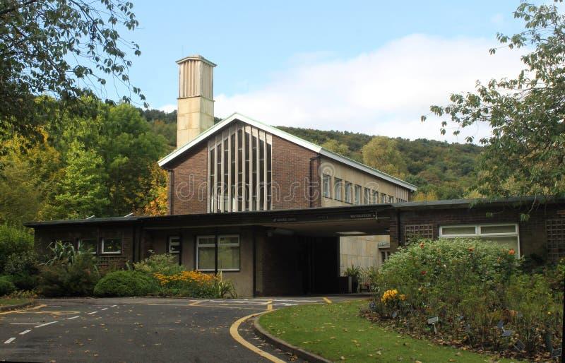 Modern crematorium stock photography