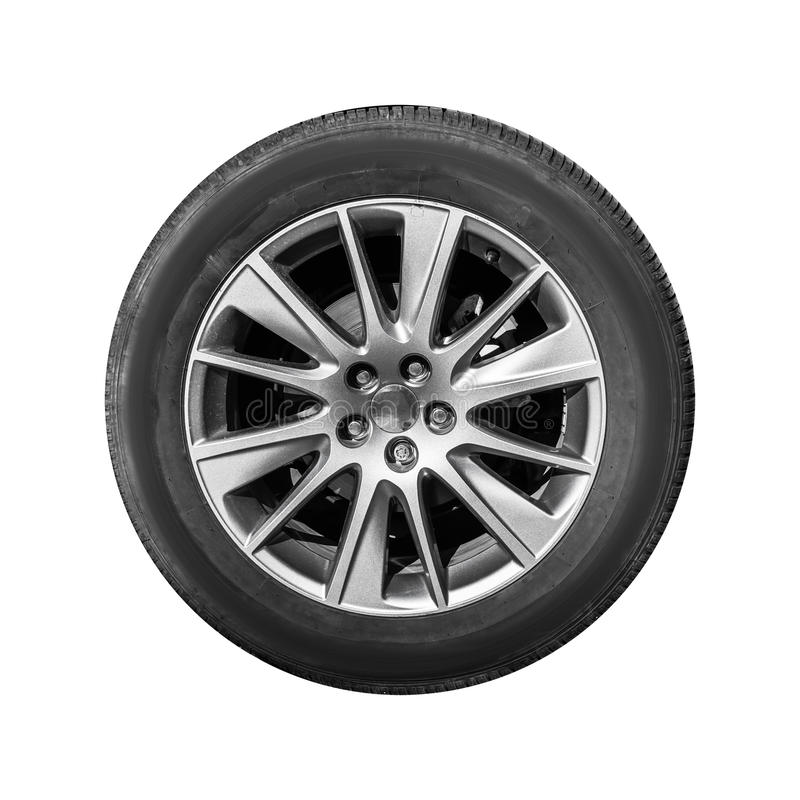 Download Modern Crossover Car Wheel, Front View Isolated Stock Photo - Image of grey, gray: 93164600