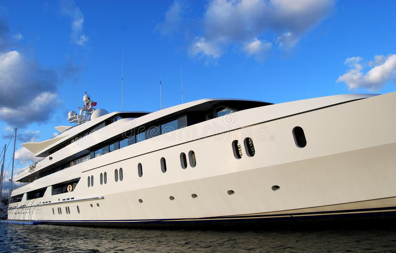 Modern cruise boat royalty free stock photo
