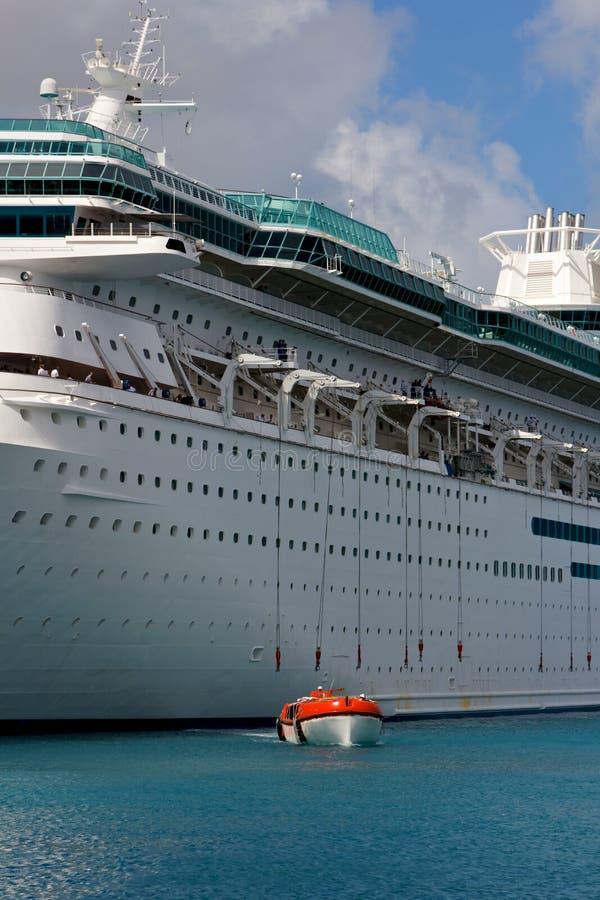 Free Modern Cruise Ship Deploys Lifeboats Stock Photography - 24216732