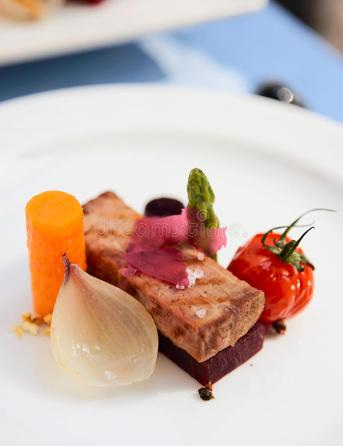 Modern Cuisine Dish Stock Image