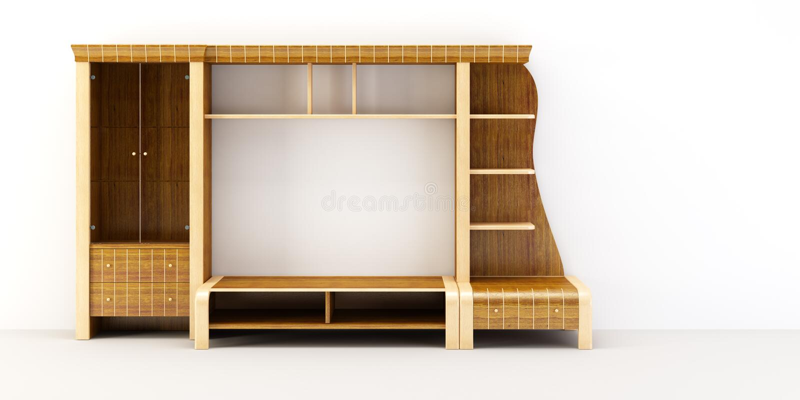 Modern cupboard 3d rendering royalty free illustration
