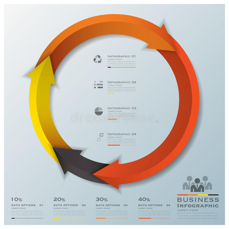 Modern Curve Arrows Business Infographic royalty free illustration