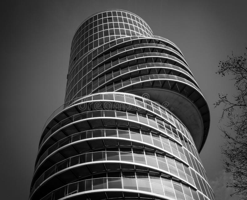 Modern curved office building royalty free stock image