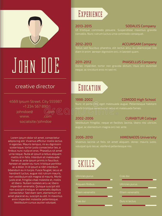 Modern cv resume template design stock illustration illustration download modern cv resume template design stock illustration illustration of page paragraph 55181529 yelopaper Images