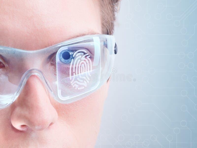 Modern cybersecurity arkivbild