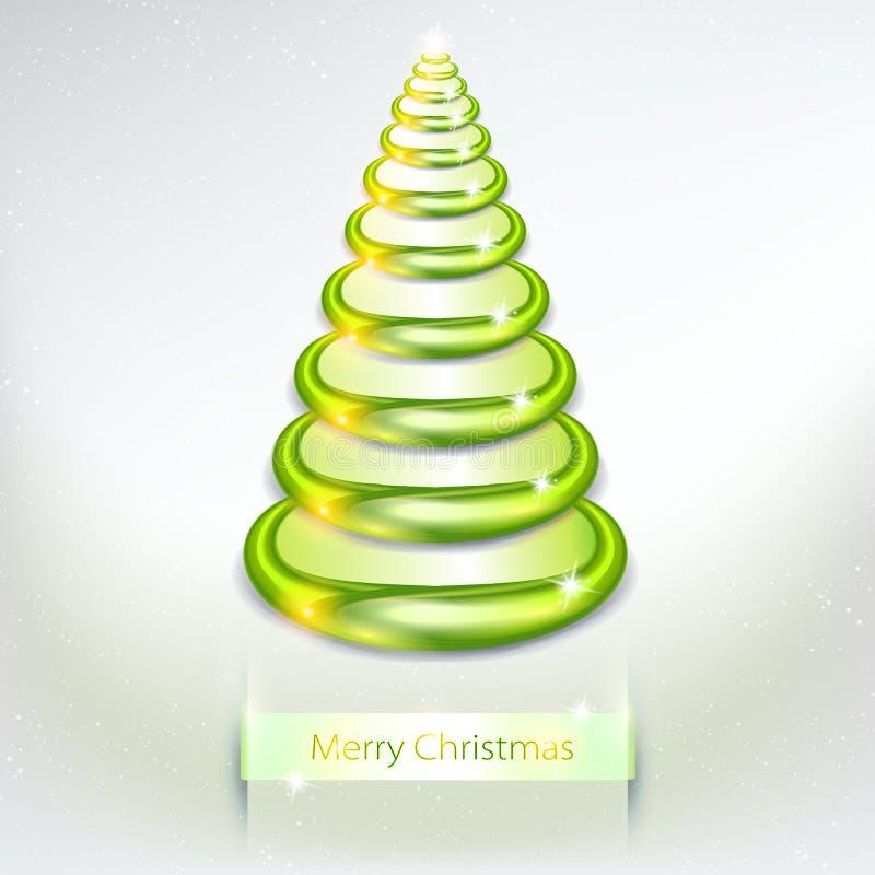 Modern 3d Christmas tree. creative design. Trendy Christmas 3D tree for design stock illustration