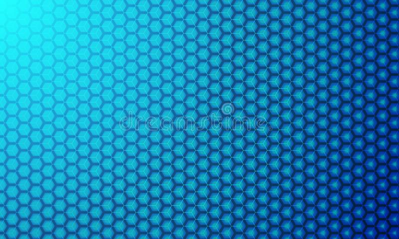 Hexagon modern 3D vector background. Geometric elements for your design, digital technology modern background stock illustration