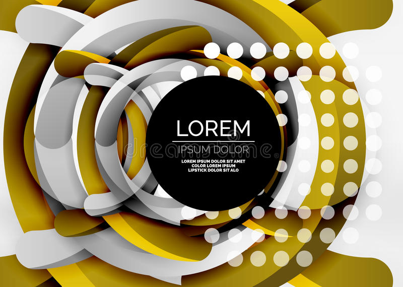 Modern 3d ring vector abstract background vector illustration