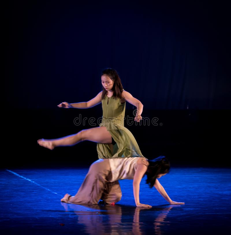 Same sex 1-Act 2: Triangle relation-Modern Dance Dreamland. Modern dance is a kind of dance faction which rises in the West in the early 20th century and is stock photo