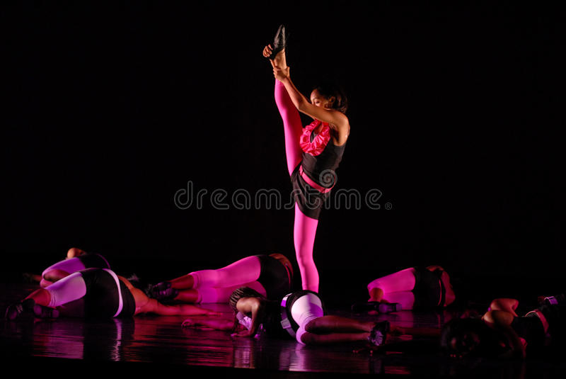 Modern dance move royalty free stock image