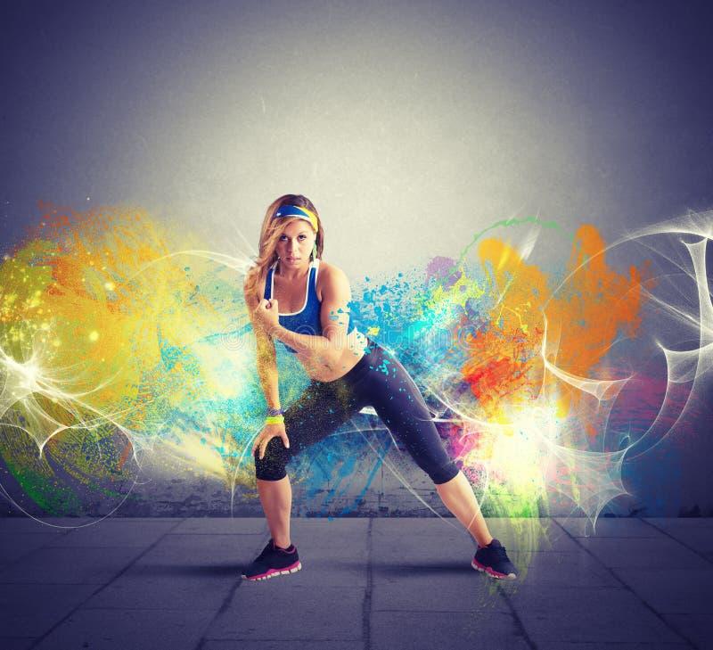 Modern dancer stock image