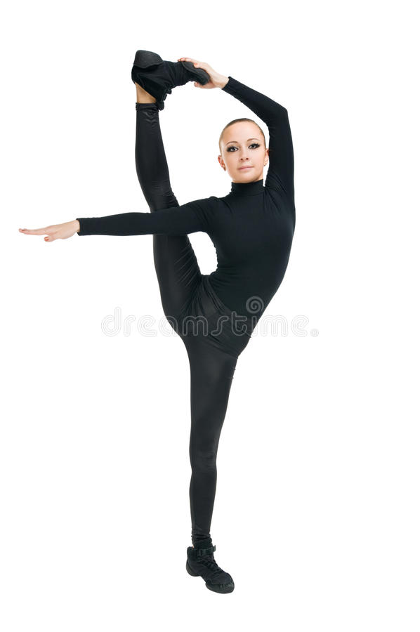 Modern dancer with great stretching royalty free stock photos