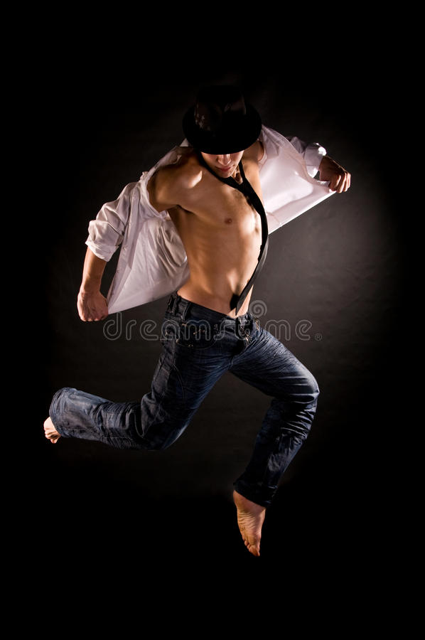 Download Modern Dancer Jumping Royalty Free Stock Images - Image: 12131589