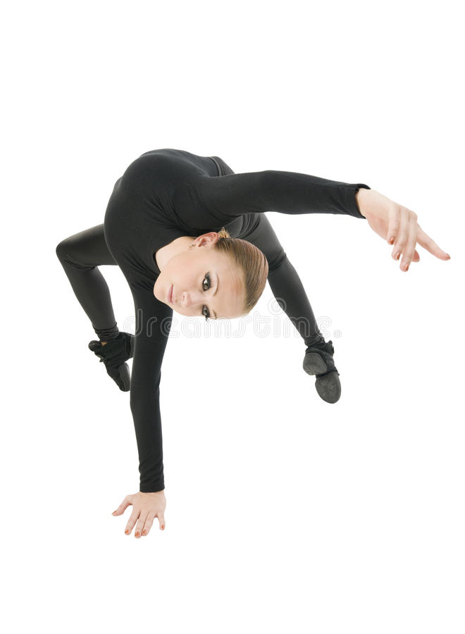 Modern dancer performing stock images