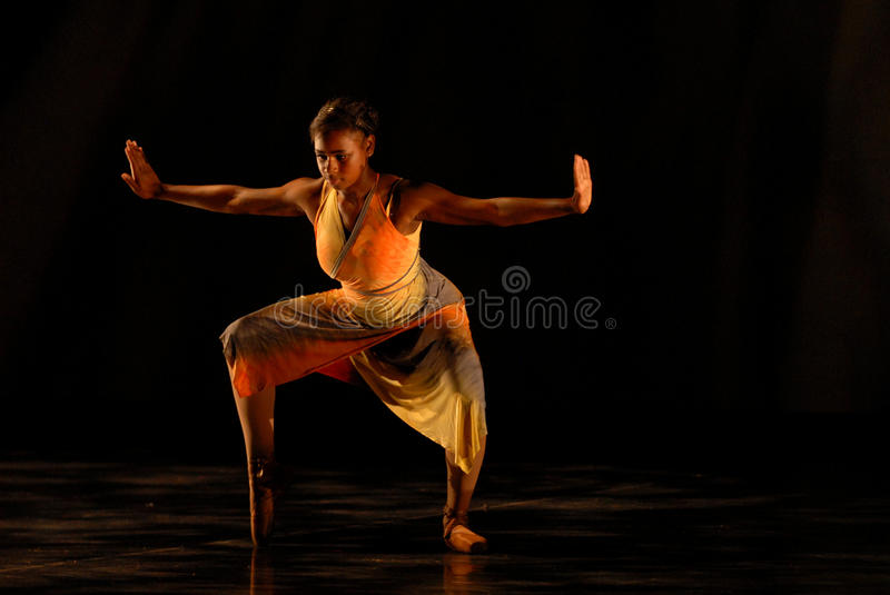 Modern dancer on points royalty free stock photo