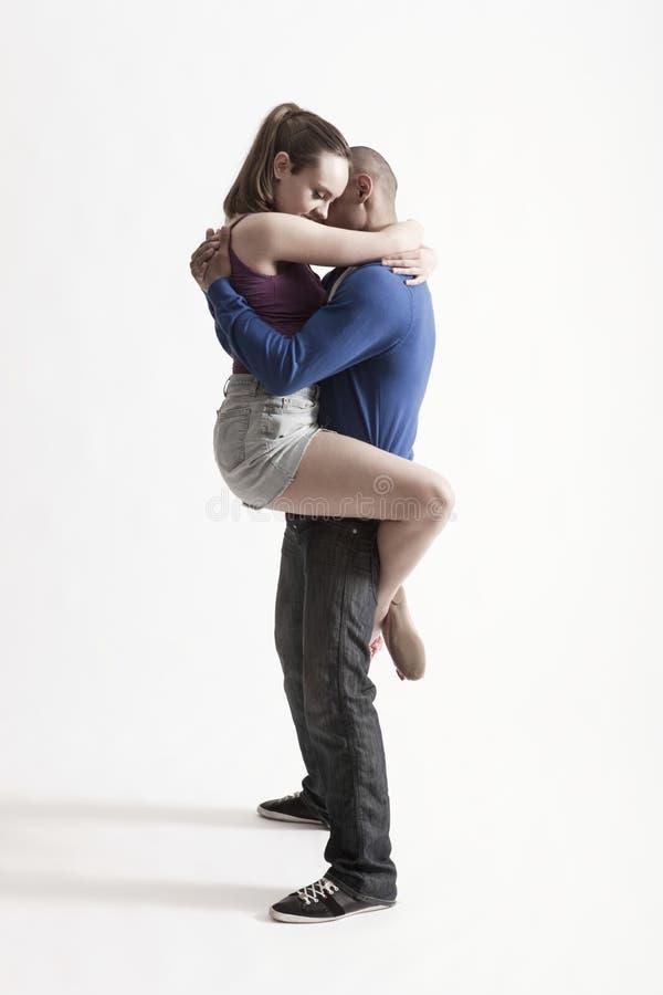 Modern Dancers Embracing Stock Photography
