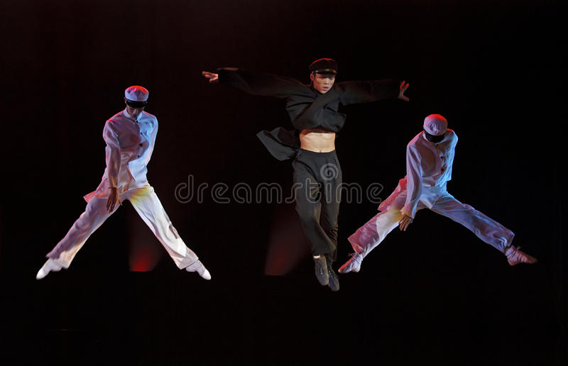 Download Modern Dancers Perform On Stage Editorial Stock Photo - Image: 21885188