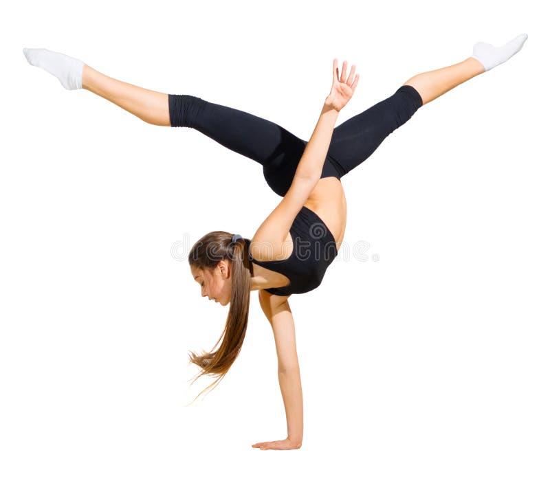 Modern dansare för ung flicka fotografering för bildbyråer