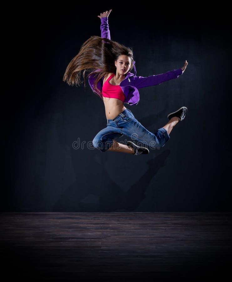 Modern dansare för ung flicka (normal ver) arkivfoton