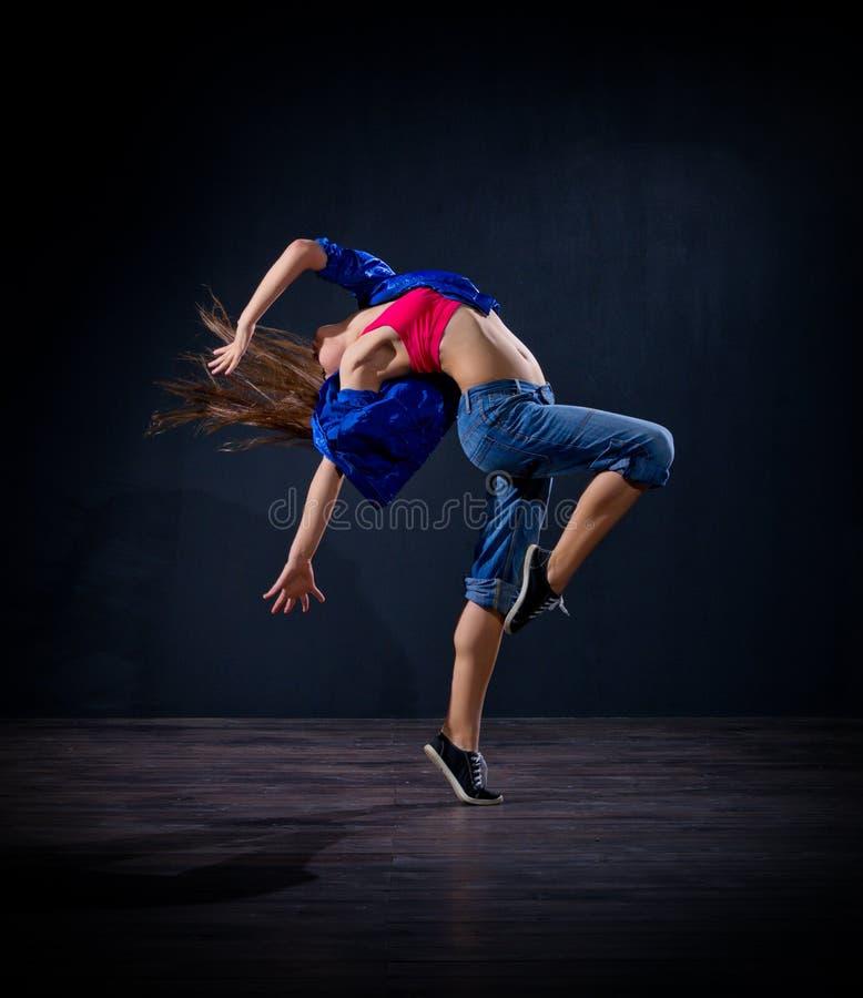 Modern dansare för ung flicka (normal ver) royaltyfria bilder