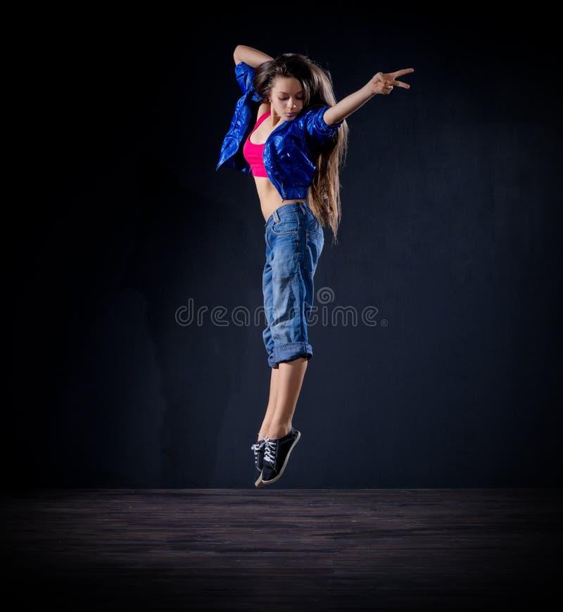 Modern dansare för ung flicka (normal ver) arkivbild