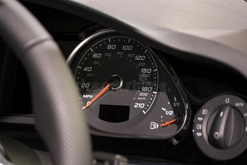 Download Modern Dashboard On Super Fast Car Stock Image - Image: 5828215