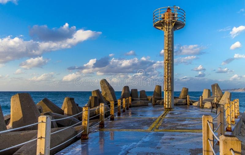 Modern day lighthouse royalty free stock image
