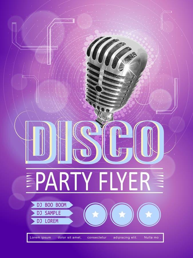 Modern de afficheontwerp van de discopartij stock illustratie
