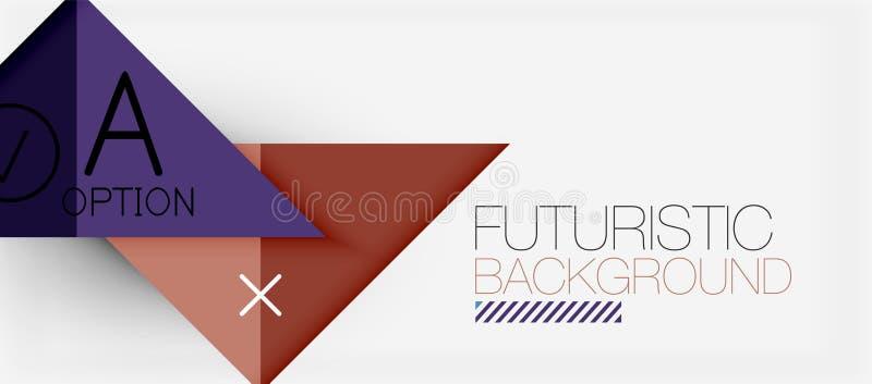 Modern de bannerontwerp van de Minimalisticdriehoek, geometrische abstracte achtergrond royalty-vrije illustratie