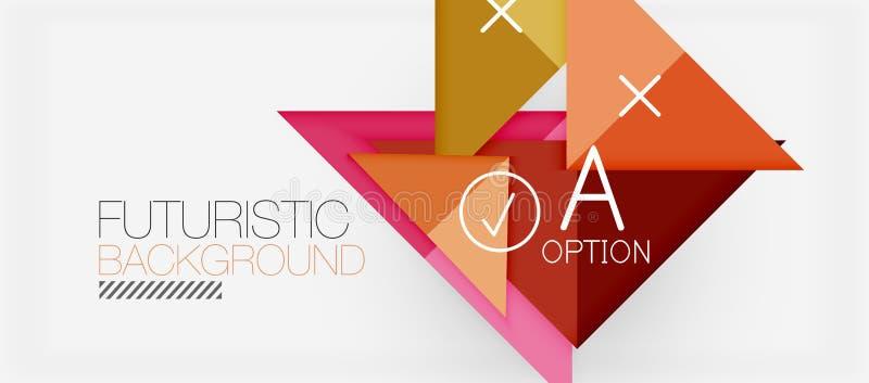 Modern de bannerontwerp van de Minimalisticdriehoek, geometrische abstracte achtergrond vector illustratie