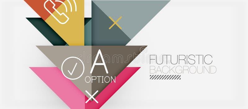Modern de bannerontwerp van de Minimalisticdriehoek, geometrische abstracte achtergrond stock illustratie