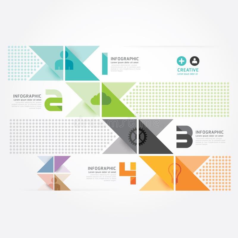 Modern de informatie grafisch malplaatje van de Ontwerp Minimaal stijl. stock illustratie